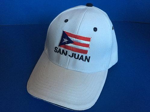 Cap with flag / Gorra con bandera - San Juan