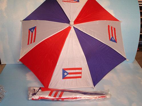 Puerto Rico Flag head umbrella - Sombrilla para la cabeza con bandera de P.R.