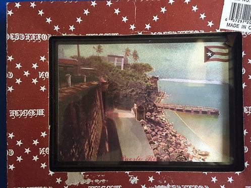 Picture with photo of the sea in Puerto Rico  - Cuadro con foto del mar en P.R.