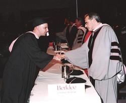 Idan with Donald Fagen at the Berklee Co