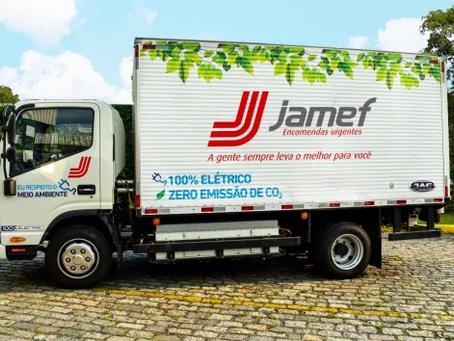 Jamef começa a testar caminhão elétrico da JAC Motors