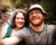 Joyce Cain & Luke Cain, wellbeing coaches/guides, writer, artist/illustrator, hiking in Rocky Mountain National Park