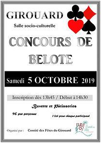 affiche concours belote CdF - Octobre 20