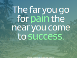 'How far can you go for pain?'