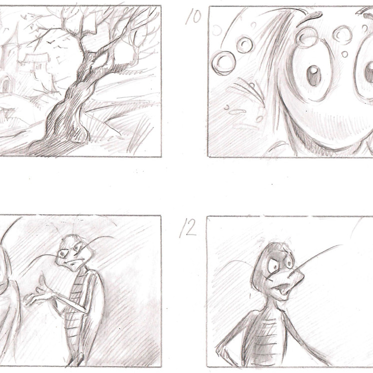 The Music of an Old Castle (storyboard)