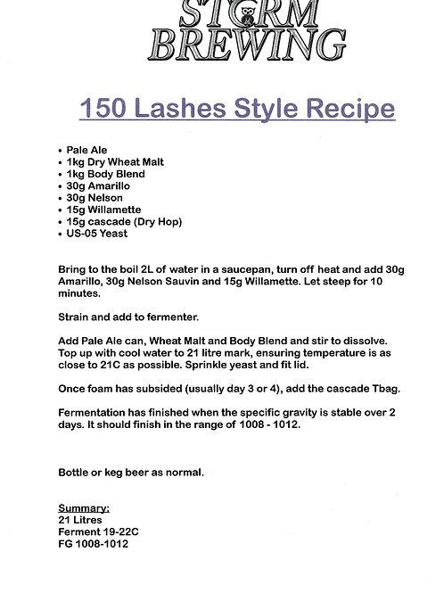 150 Lashes Style Recipe