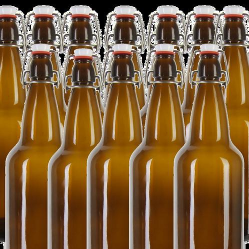 Flip Top Amber Bottle (12x500ml)