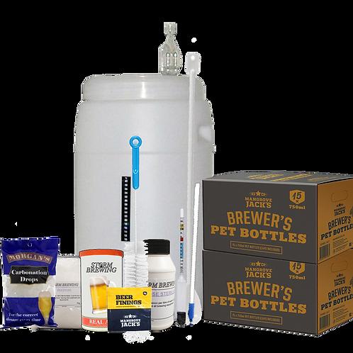 Beer Brewing Kit - Basic w/ Bottles