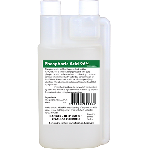 Phosphoric Acid (96% Pure) - 500ml