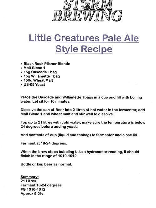 Little Creatures Pale Ale Style Recipe