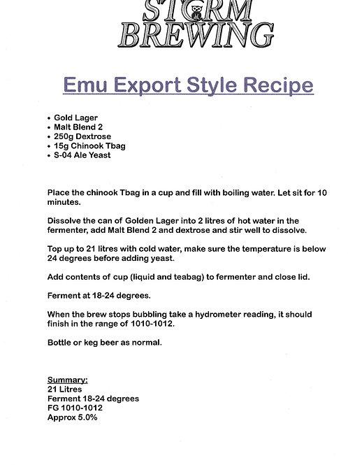 Emu Export Style Recipe