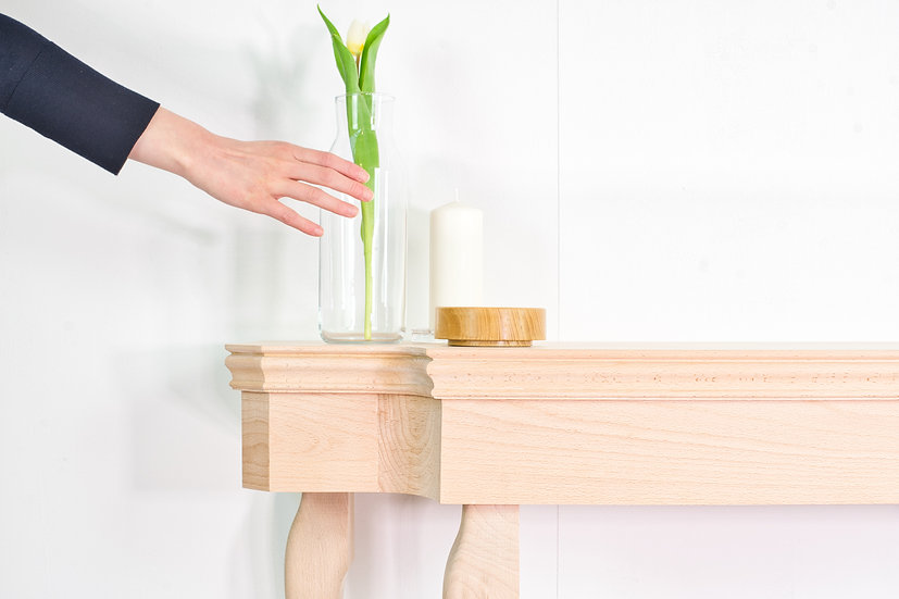 Beech Console Table
