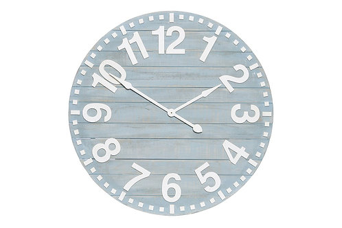 Timber Blue clock