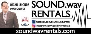 Sound.wav Rentals Logo
