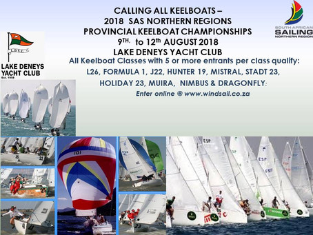 SAS Northern Region Provincial Keelboat Championships August 2018