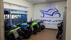 PVC-Banner Firma Motorrad Janning Metelen