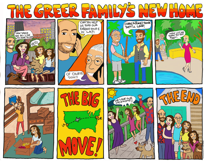 Greer Family Move Comic strip