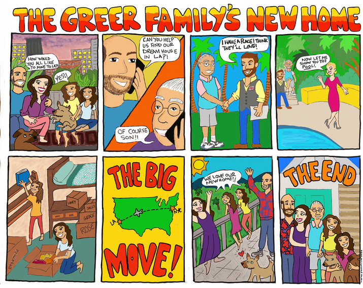Greer Family Move Comic strip