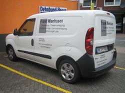 Fahrzeugbeschriftung Firma Frank Wienhusen Nottuln