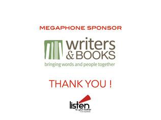 MEGAPHONE SPONSOR SPOTLIGHT: WRITERS & BOOKS