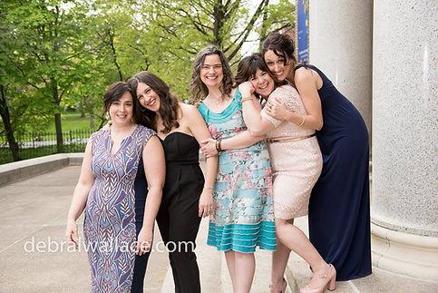 Corrie, Sarah, Sally, Monica, & Emily