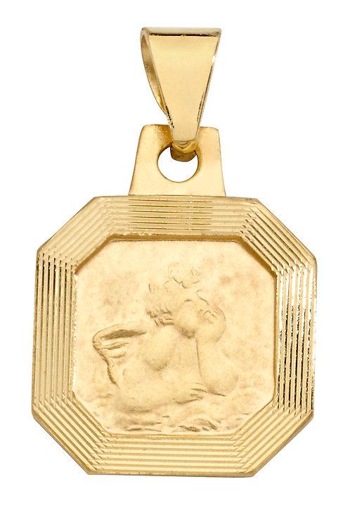 Anhänger Schutzengel gerillt 585 gelbgold