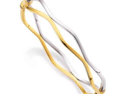 Armreif · Weiß- und Gelbgold 585
