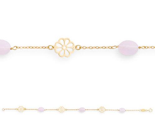 Armband ·  Gelbgold 585 mit Zirkonia rosa, 18cm