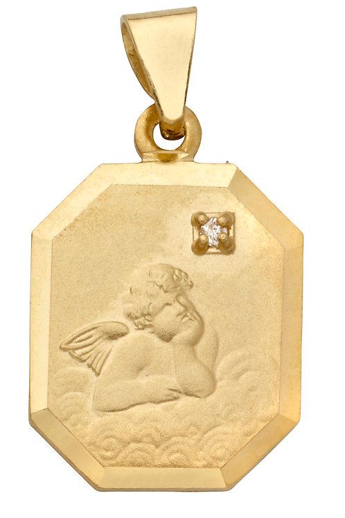 Anhänger Schutzengel Diamant 585 Gelbgold