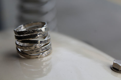 Sterling Silver twisted texture Ring