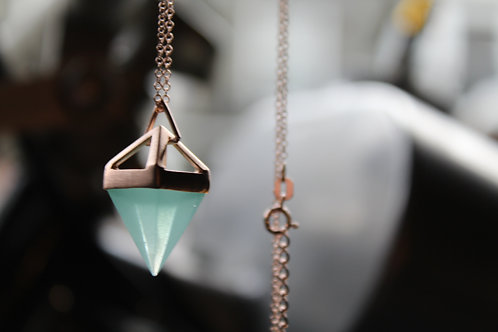 Rose Gold Vermeil Pyramid Necklace