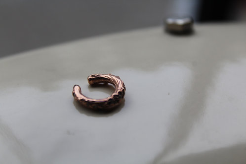 Small Rose Gold Ivy Ear Cuff with Cubic Zirconia Stones