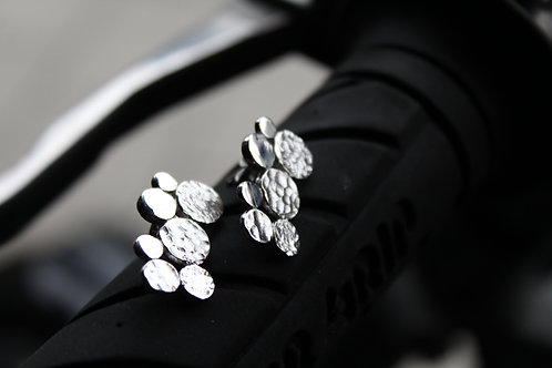 Silver Double Dot Studs