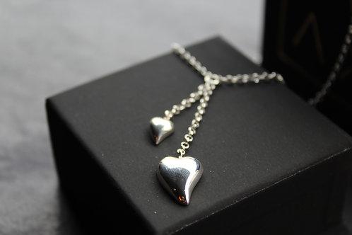 Polished Hearts Chain Necklace