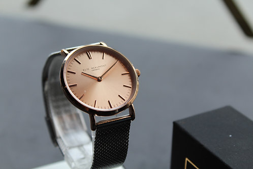 Elie Beaumont Oxford Small Mesh Watch Two Tone