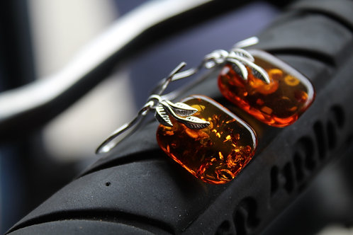 Amber Leaf Earrings