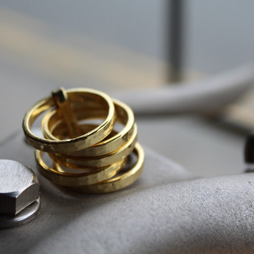 Five Stacking 18ct Vermeil Ring