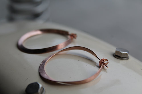 Rose Gold Satin Finish Hoop Earrings