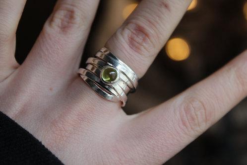 Designer Peridot Wound Ring