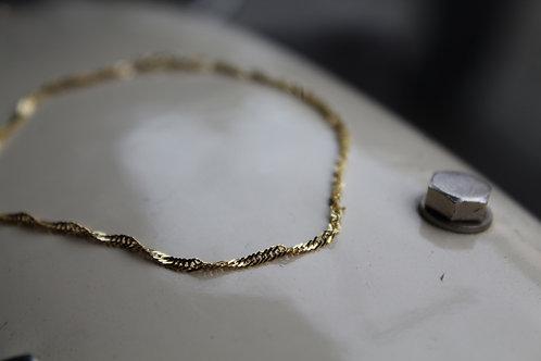9ct Yellow Gold Twist Curb Bracelet 7 Inch