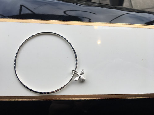 Sterling Silver Bee Bangle