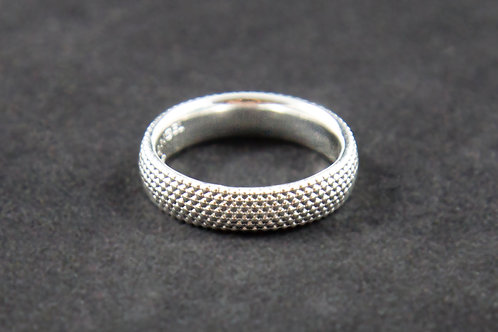 5mm Sterling Silver Dots Ring