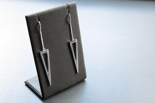 Open Triangle Pull Through Earrings