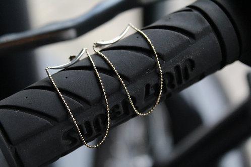 Silver Curve Threader Earrings