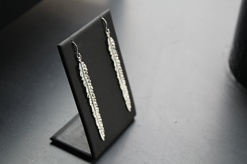 Fern Silver Drop Earrings
