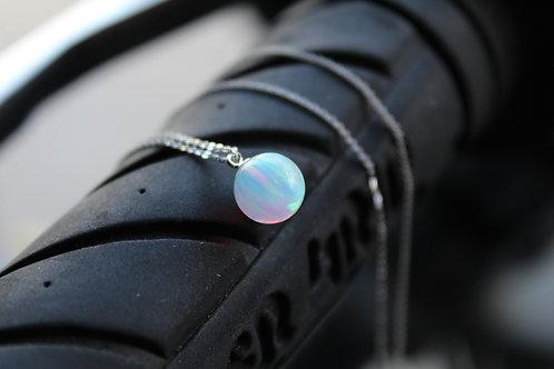 Sterling Silver Sun Opal Necklace