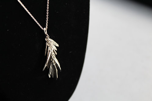 Wild Grass Pendant with Chain