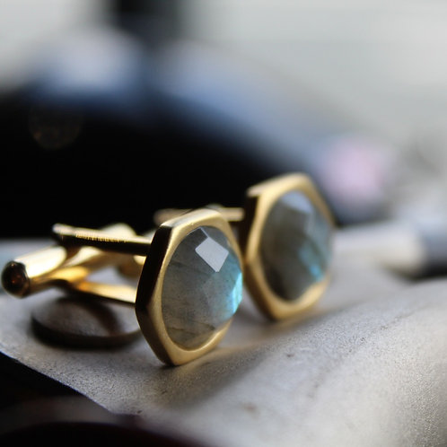 Vermeil Cuff Links with Labradorite