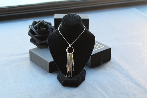Designer Sparks Silver Double Pendant