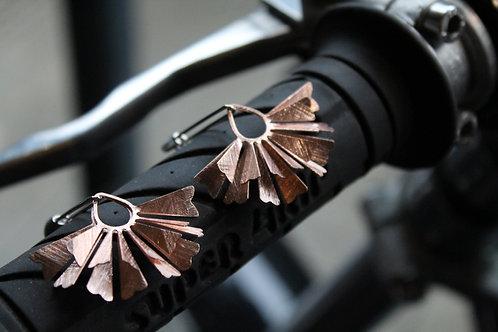 Layered Fan Drop Earrings